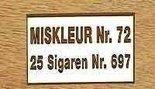 Sigaren Miskleur No 72 (Rivales)