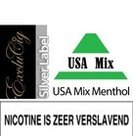 EXCLUCIG SILVER LABEL E-LIQUID USA MIX MENTHOL 10ML