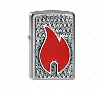 Zippo flame emblem