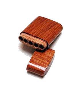 Sigaren houder gelakt cederhout (cigarillo)