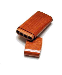 Sigaren houder gelakt cederhout (panatella)