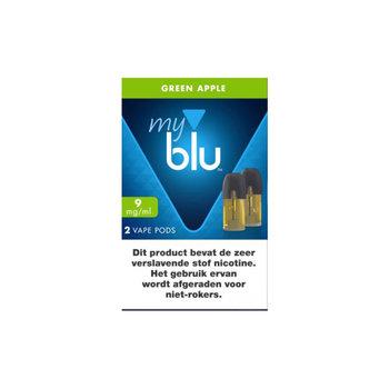 Blu pods green apple 9 mg (2 stuks)