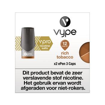 Vype ePen 3 caps rich tobacco 12 mg 2 stuks