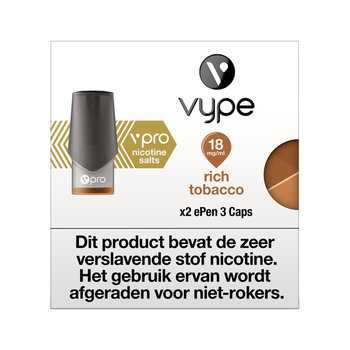 Vype ePen 3 caps rich tobacco 18 mg 2 stuks