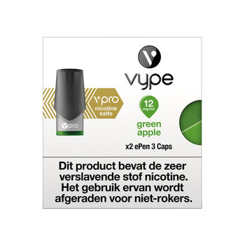 Vype ePen 3 caps green apple 12 mg 2 stuks