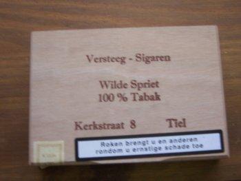 Versteeg Sigaren Wilde Spriet 100% tabak