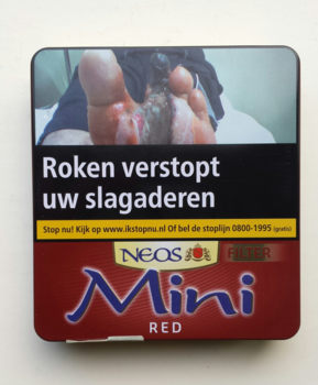 Neos mini filter cigarillo red
