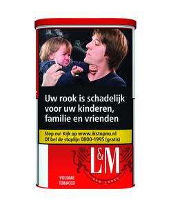L&M red volumetabak rolling & tubing tabaco 73.5 gram