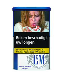 L&M premium volumetabak blue rolling & Tubing Tabaco 73.5 gram