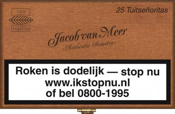 Jacob Van Meer Tuitsenoritas sigaren