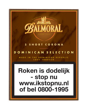 Balmoral Sigaren Dominican Selection Short Corona 5