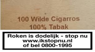 Wilde Cigarros 100% tabak 7797