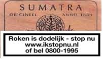 Sigaren Orgineel Sumatra Tuitknak anno 1880