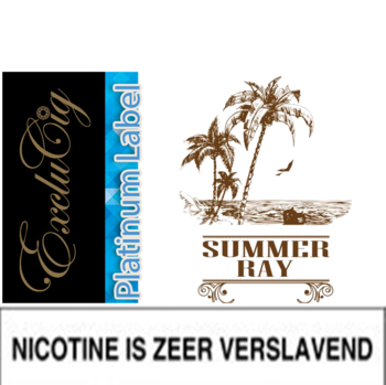 EXCLUCIG PLATINUM LABEL E-LIQUID SUMMER RAY 10ML