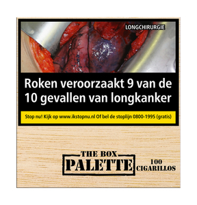 The box Palette 100 sprietjes cigarillo