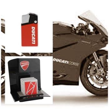 Ducati set aansteker & sigaretten mapje
