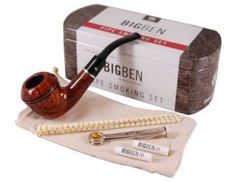 Big ben smoking set light brown Dublin bent